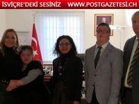 UDF İsviçre Başkanı Sahra Sevici Başkonsolos İpekçi'yi ziyaret etti