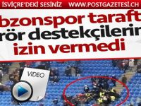 Trabzonspor taraftarı terör destekçilerine izin vermedi