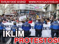 Lozan'da iklim protesto gösterisi