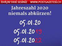Deshalb sollten Sie die Jahreszahl 2020 niemals abkürzen