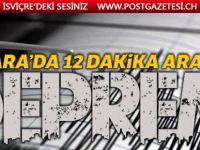 Ankara'da 12 dakika arayla 2 deprem