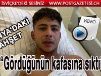 """Irkçı saldırıdan kurtulan yaralı Türk genci: """"Gördüğünün kafasına sıktı"""""""