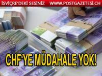 İsviçre merkez bankası franga müdahale etmeyecek