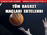 FIBA koronavirüs nedeniyle tüm maçları erteledi