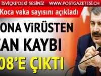 Türkiye'de korona virüsten hayatını kaybedenlerin sayısı 908 oldu