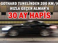 GOTHARD TUNELİNDEN 200 KM/H HIZLA GEÇMİŞTİ