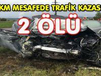 AARGAU'DA  3 KM MESAFEDE 2 TRAFİK KAZASI