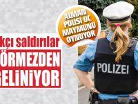 ALMAN POLİSİ ÜÇ MAYMUNU OYNUYOR
