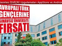 Avrupalı Türk gençlerine sınavsız üniversite imkanı