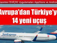 SunExpress ZÜRİH'ten ANKARA ve G.ANTEP'e direk uçacak