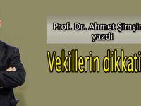 Prof.Dr.Ahmet Şimşirgil yazdı: Vekillerin dikkatine!