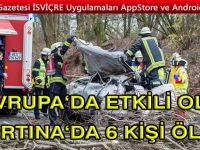 Avrupa'da etkili olan fırtınada 6 kişi hayatını kaybetti