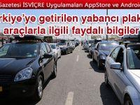 Türkiye'ye getirilen yabancı plakalı araçlarla ilgili faydalı bilgiler