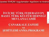 BASEL'de Çanakkale Zaferi ve Şehitleri anma Programı