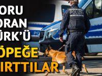 Alman polis, soru soran Türk'ü köpeğine ısırttı