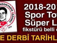 2018-2019 Spor Toto Süper Lig fikstürü | 2018-2019 Süper Lig fikstürü belli oldu