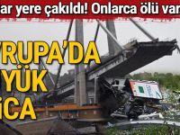 İtalya'da köprü çöktü! Ölü ve yaralılar var