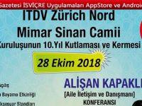 İTDV Mimar Sinan Camii Kuruluşunun 10.yılı kutlaması ve Kermesi