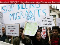 Bern'de yüzlerce göçmen sınır dışı edilmelerini protesto etti