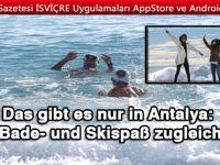 Das gibt es nur in Antalya: Bade- und Skispaß zugleich