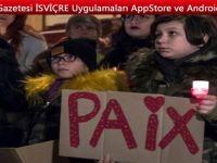 İsviçre, Yverdon'da şiddete karşı protesto