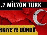 58 yılda, 3,7 milyon gurbetçi Türk dönüş yaptı