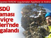 Sdü Flaması, İsviçre Alplerinde Dalgalandı