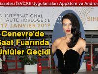Cenevre'de Saatçılık Fuarına Adriana Lima Damgası