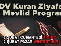 İTDV Kuran Ziyafeti ve Mevlid Programı