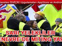 Sarı Yelekliler Cenevre BM önünde miting yaptılar
