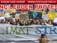 Cenevre'de gençler iklim için acil durum çağrısında bulundu