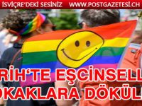 Zürih'te 55 bin eşcinsel sokaklara döküldü