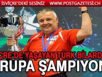 İsviçre'de yaşayan Türk bilardocu Aygün Karabıyık Avrupa şampiyonu