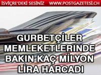 Gurbetçiler memleketlerinde bakın kaç milyon lira harcadı