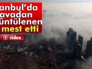 İstanbul'da havadan görüntülenen sis mest etti