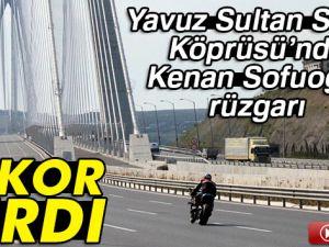 Kenan Sofuoğlu Yavuz Sultan Selim Köprüsü'nde hız denemesi yaptı