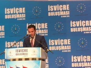 Ahmet Davutoğlu İsviçre buluşması